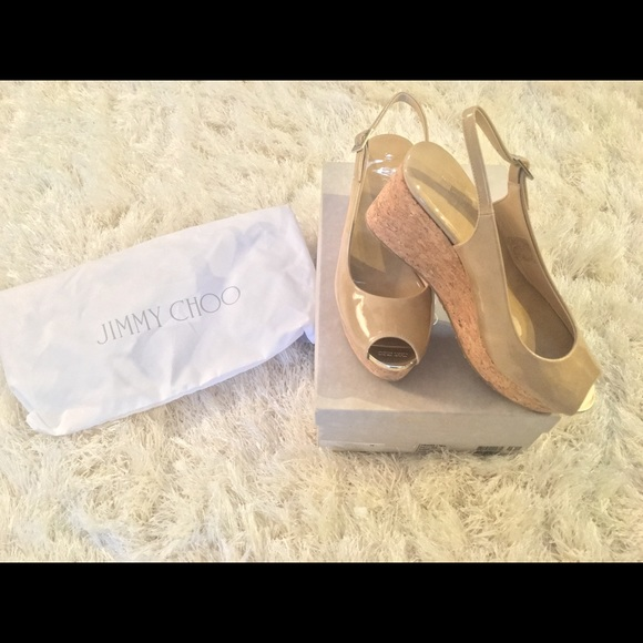 7b9a1b17d233 Brand New- Jimmy Choo Praise Patent Leather Wedge